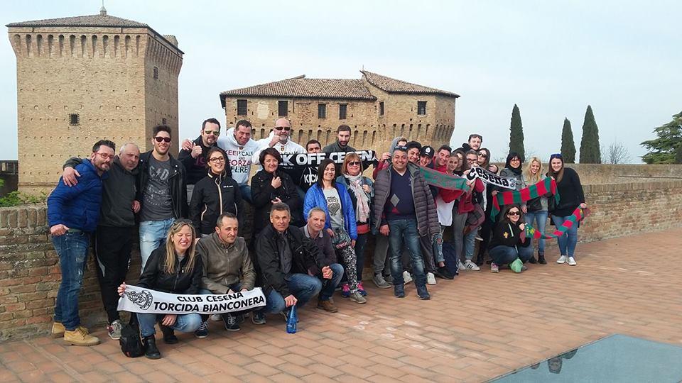 Ternana, pre partita del Club Roccarossoverde con i tifosi cesenati