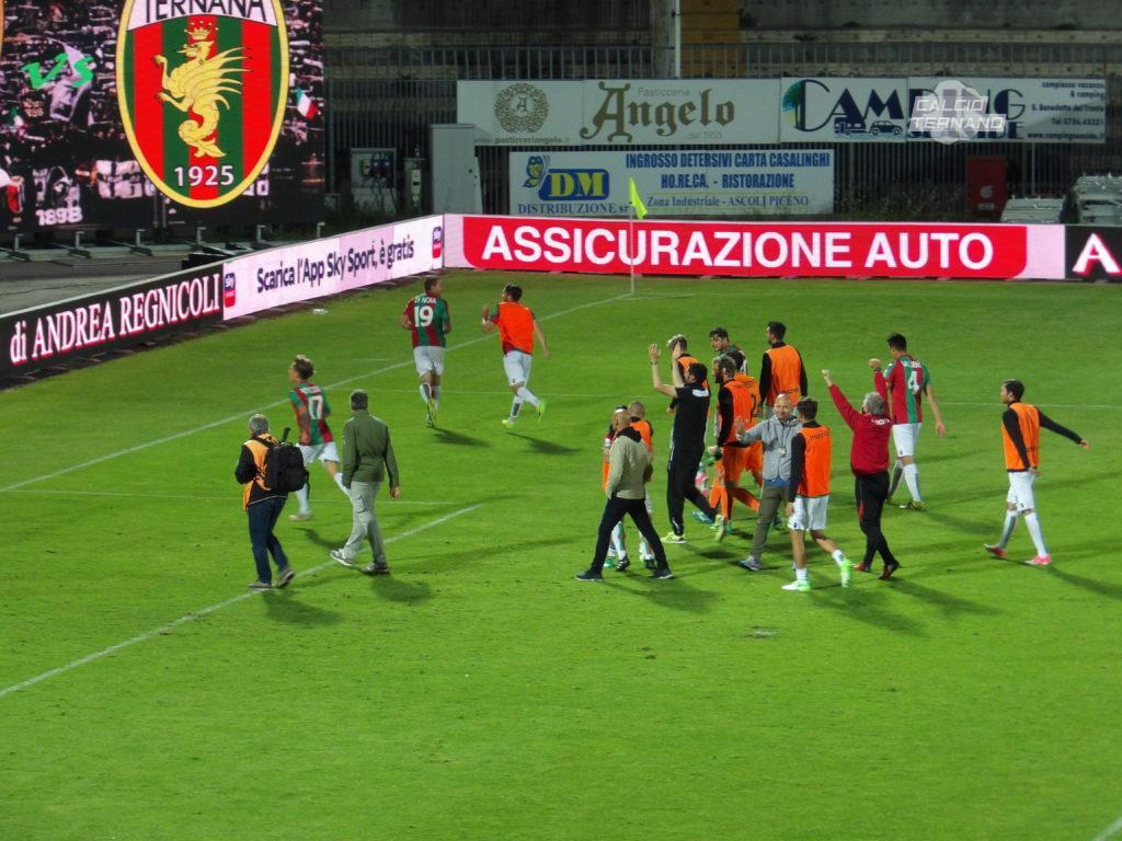 Ascoli-Ternana, dato biglietti venduti per il settore rossoverde
