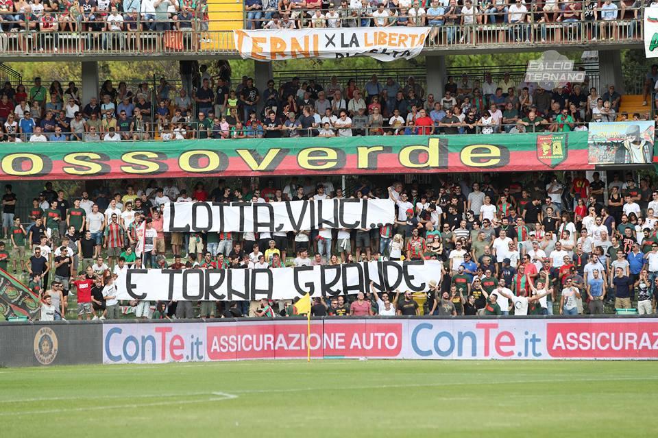 Ternana-Perugia, segui la diretta del derby con Calcio Ternano