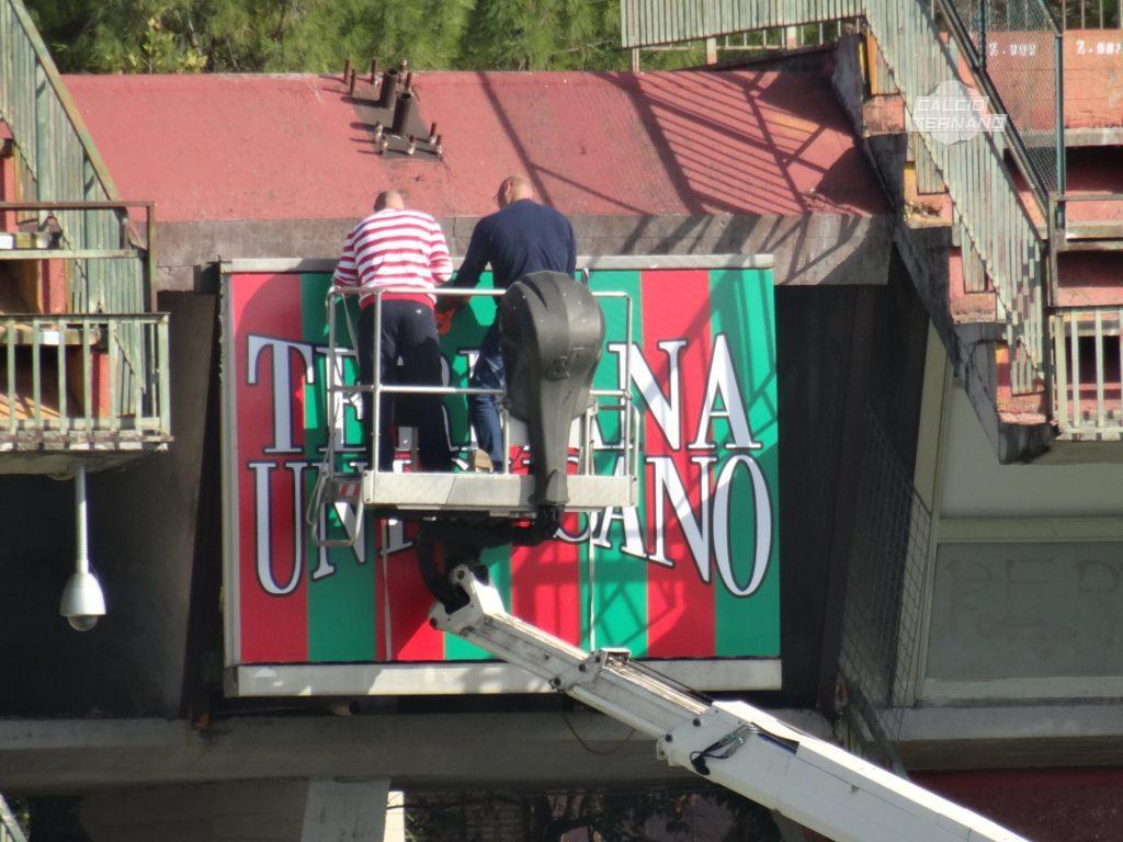 Ternana, le foto dei nuovi cartelloni al Libero Liberati