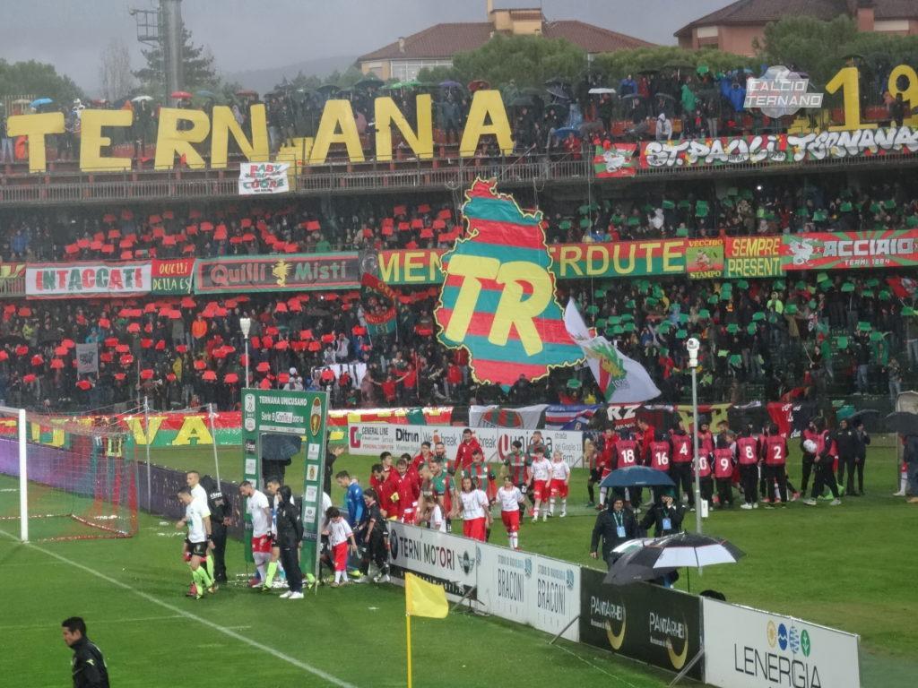 Ternana-Salernitana, iniziativa della Curva Est