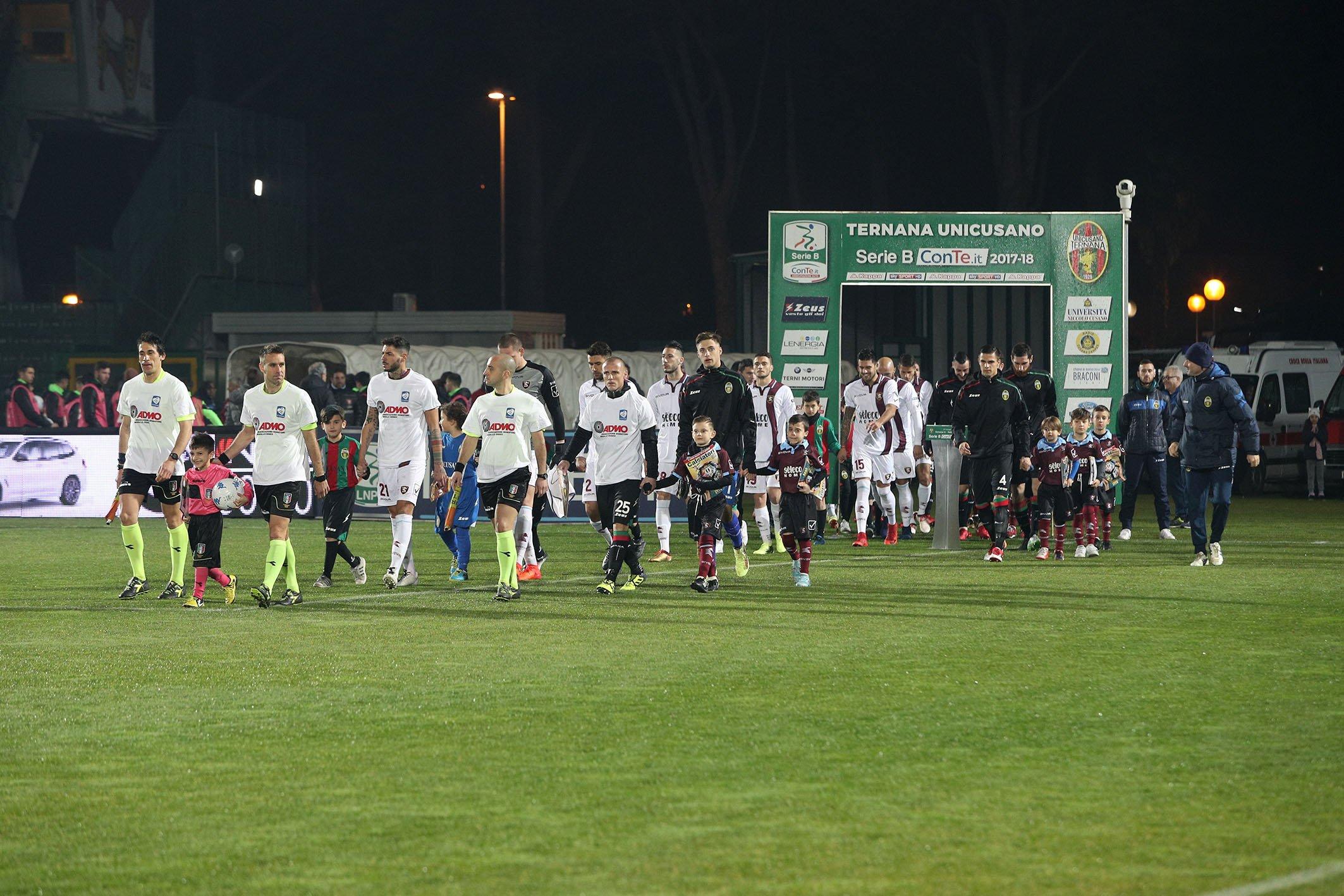 Ternana-Salernitana 2-2, pareggio rossoverde nel finale