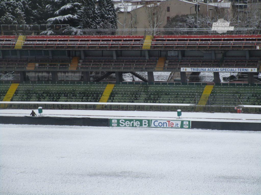 Serie B ufficiale, terza partita rinviata per maltempo