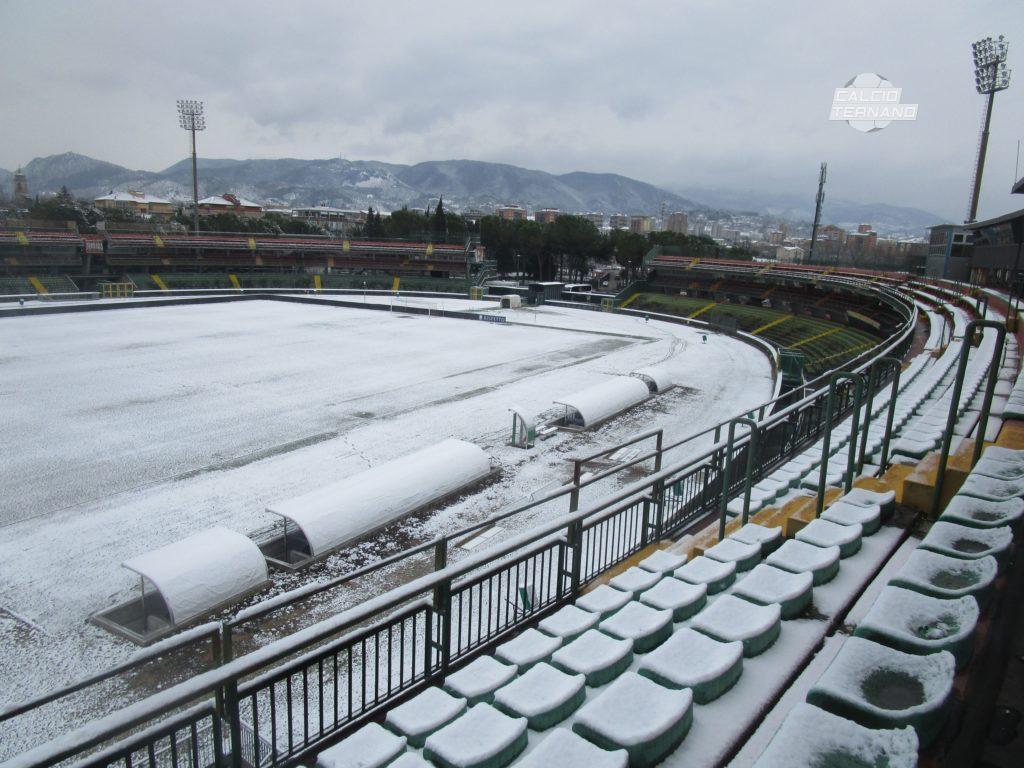 Serie B, rinviata una partita per maltempo