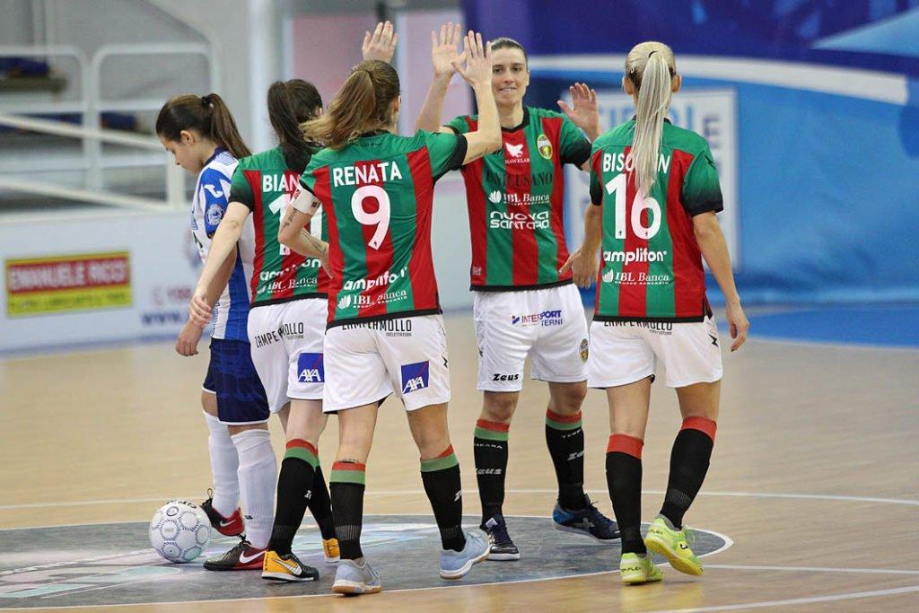 Ternana Celebrity ufficiale, Ludovica Coppari al Futsal Salinis