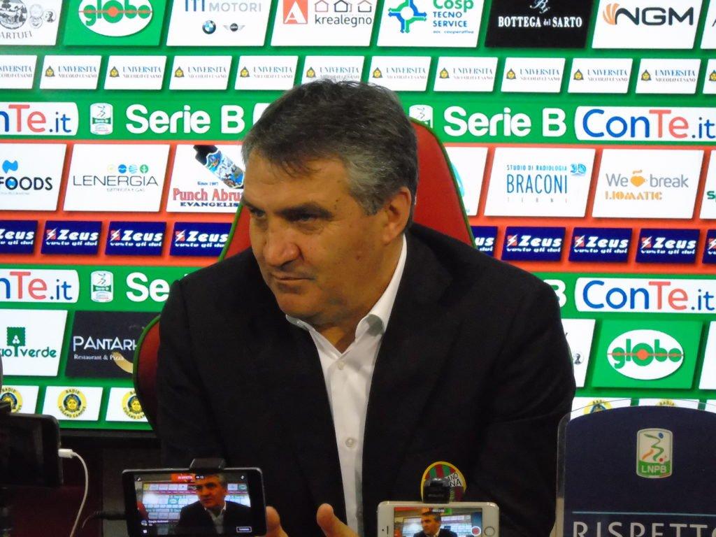 Carpi-Ternana, Luigi De Canio 'Il patron Bandecchi ci ha spronato'