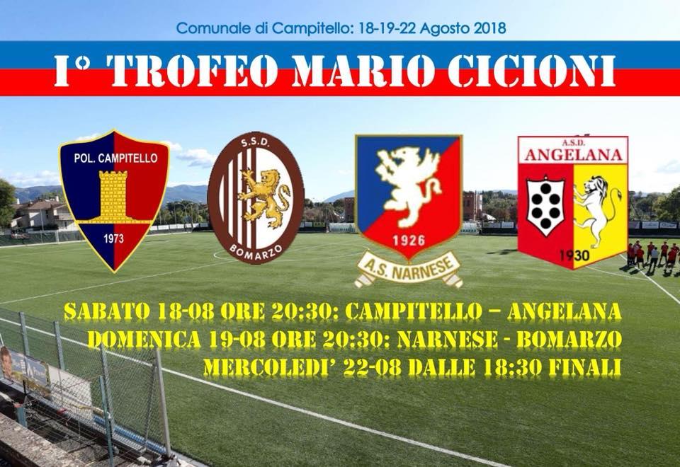 Trofeo Mario Cicioni, domani le finali del memorial