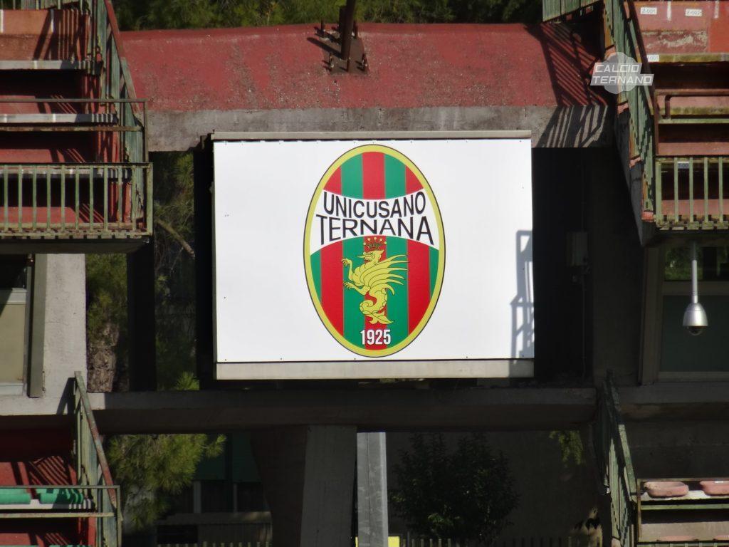 Ternana, al Libero Liberati sostituiti gli stemmi Unicusano