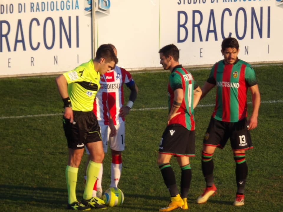 Lega Pro Girone B Ternana-Fermana, designazione arbitrale