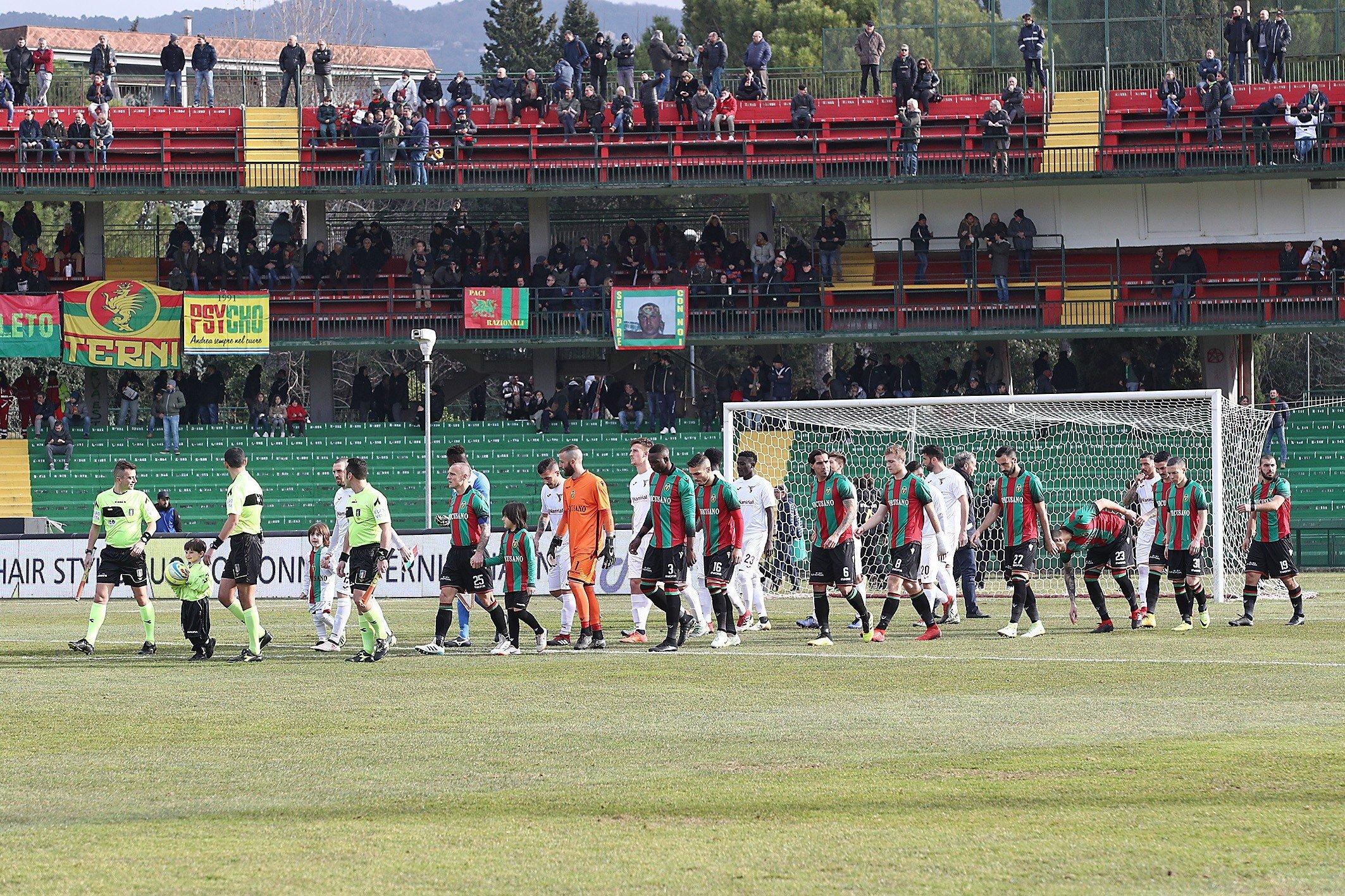 Lega Pro Ternana-Vis Pesaro, le formazioni ufficiali