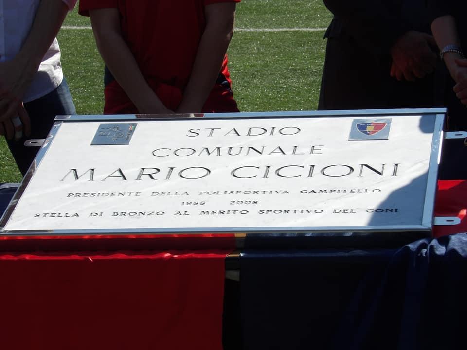 Campitello, le foto della cerimonia di intitolazione del campo a Mario Cicioni