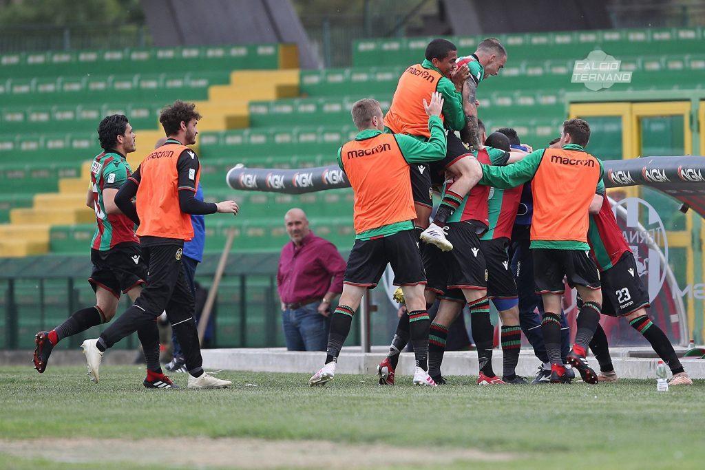 Ternana-Narnese 7-0, doppietta per Pedro Schizzi
