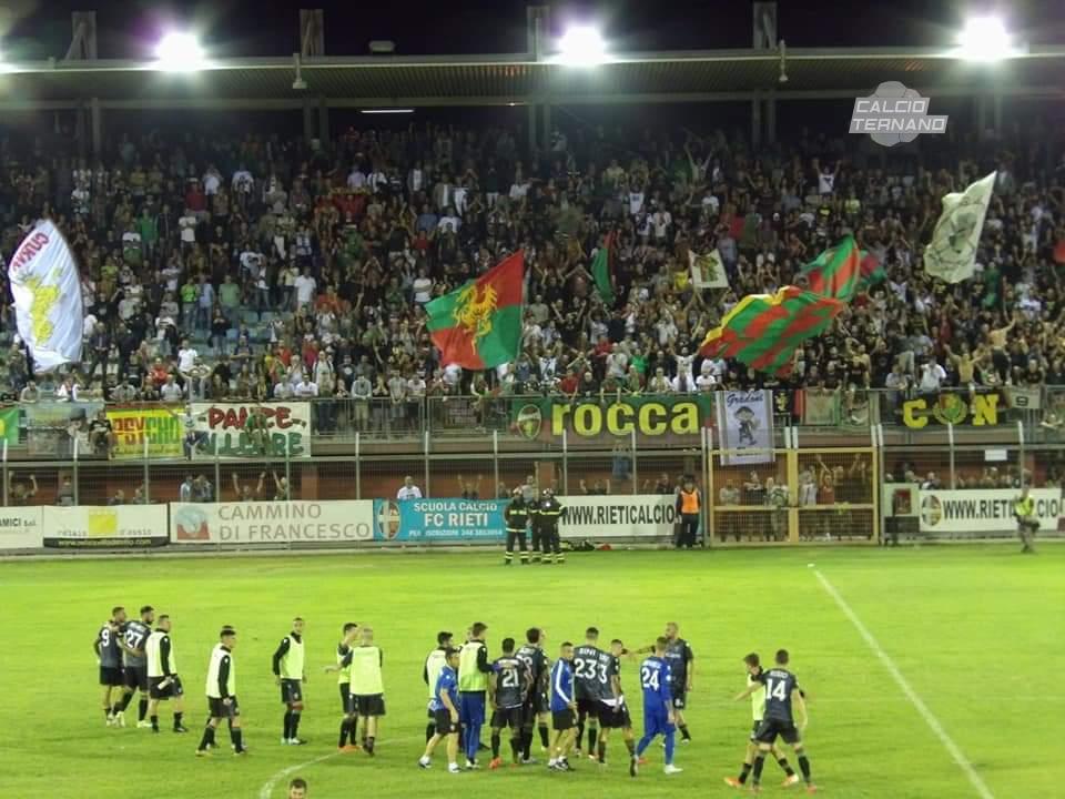 Ternana-Rieti, Giudice Sportivo: uno squalificato per parte