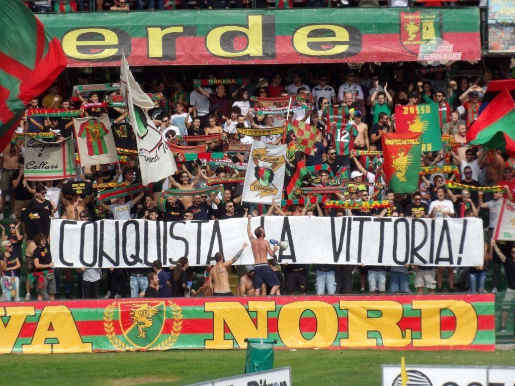 Teramo-Ternana, dato definitivo tifosi rossoverdi presenti al Bonolis