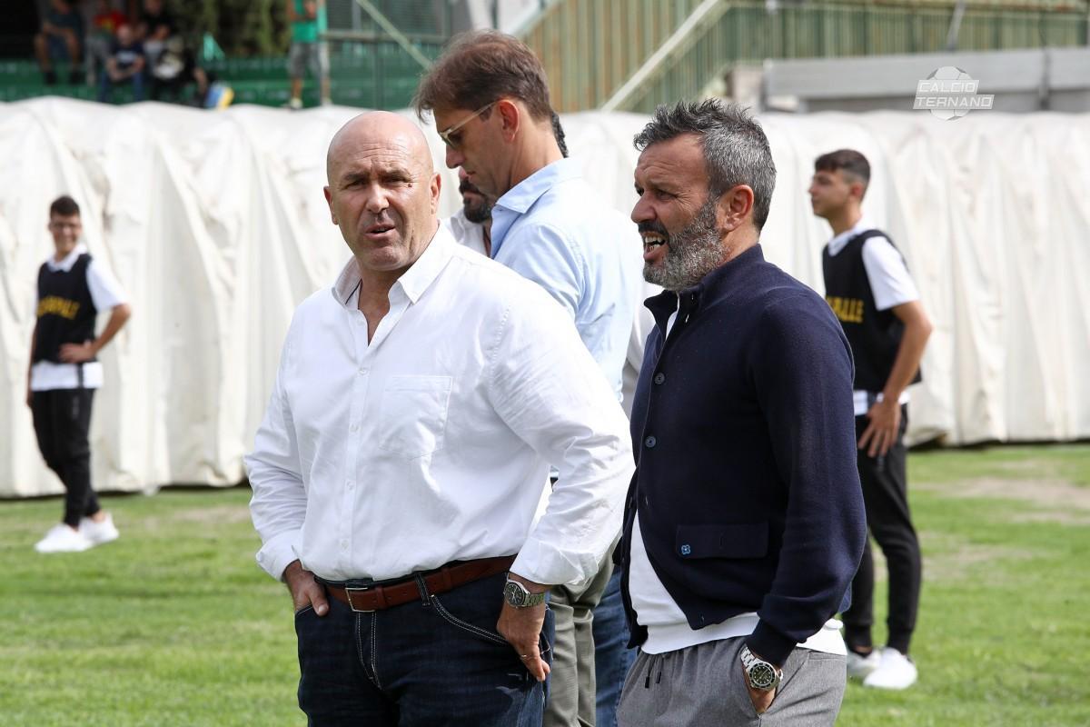 il presidente Bandecchi ed il direttore Leone