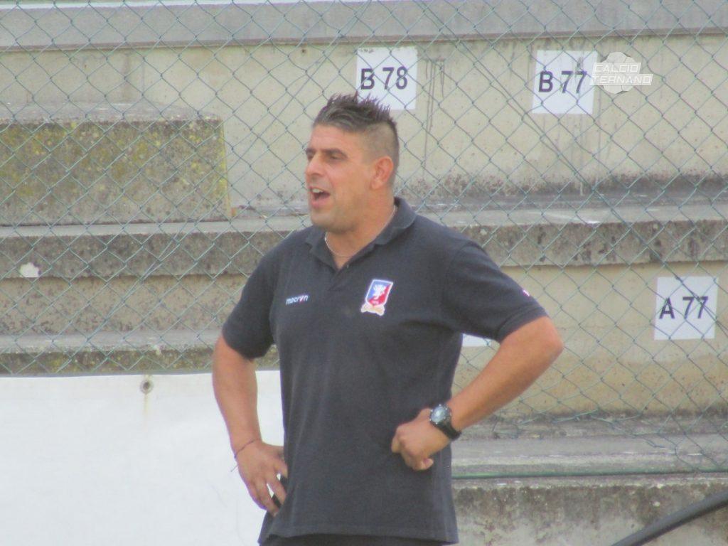L'allenatore della Narnese Marco Sabatini