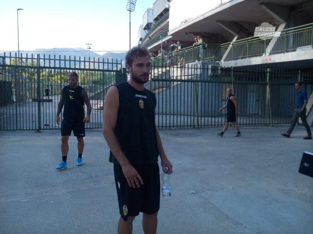 Ternana, primo allenamento per Filippo Damian