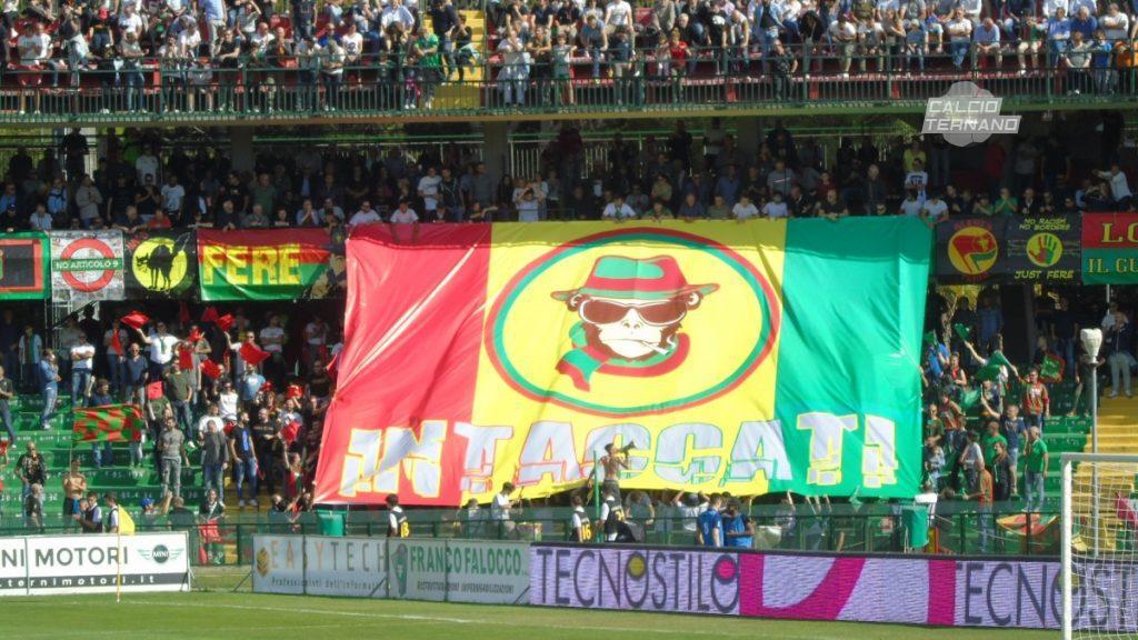Ternana-Catania, lo spettacolo del Libero Liberati