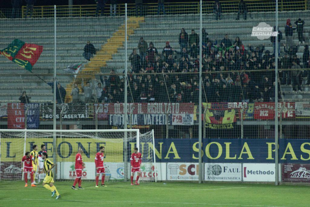 Ternana-Casertana, dato parziale biglietti venduti ai tifosi campani