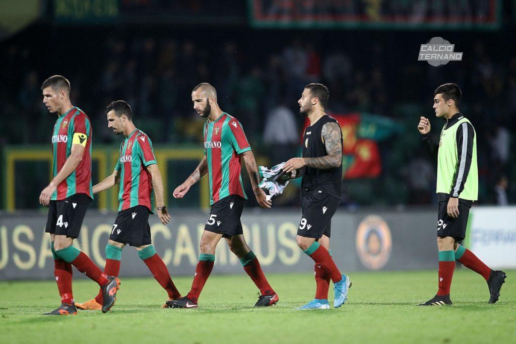la Ternana dopo il match contro l'Avellino