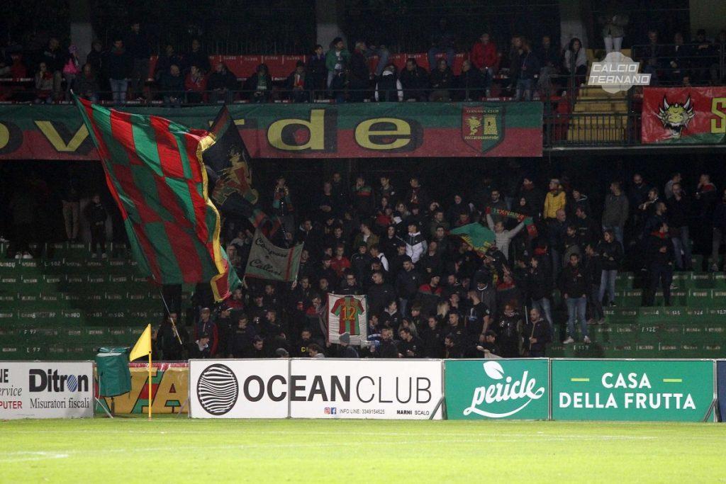 Teramo-Ternana, prevendita subito boom per i tifosi rossoverdi