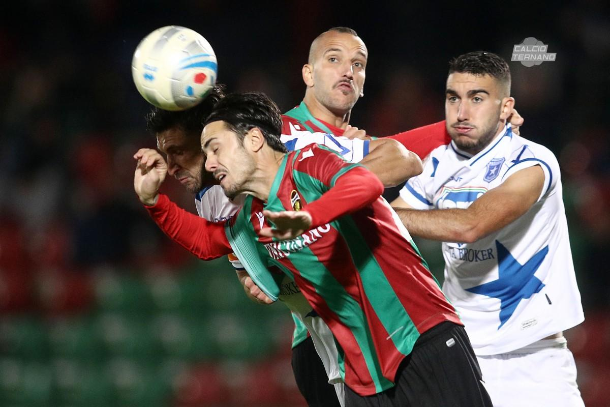 Aniello Salzano nel corso del match