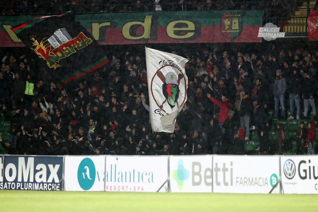 Ternana-Casertana, dato definitivo tifosi campani
