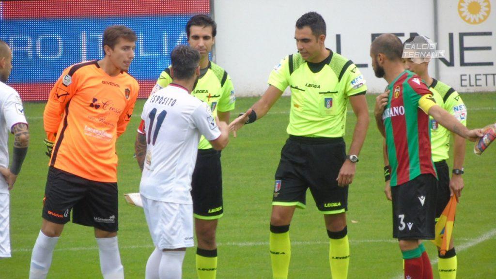Ternana-Fermana, designazione arbitrale per la Coppa Italia