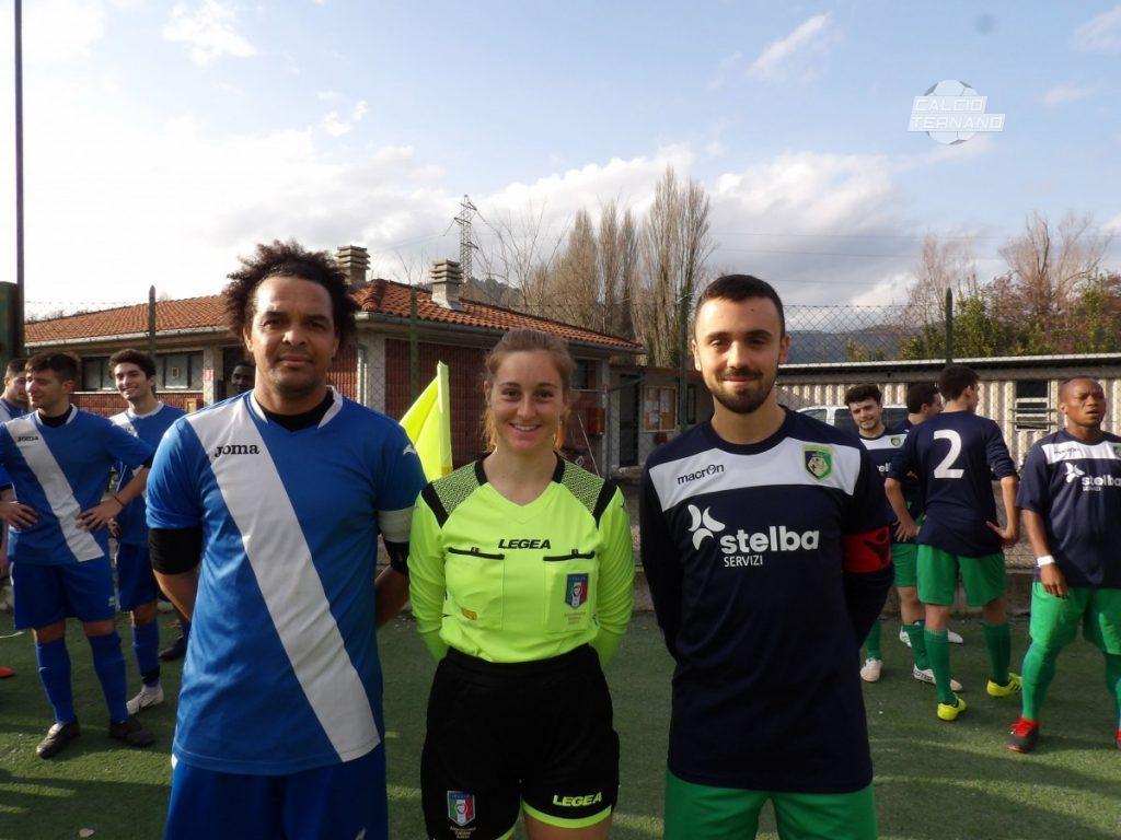 I capitani di Bosico, Gomese, e Ferentillo, Campisi, con l'arbitro Ciommei