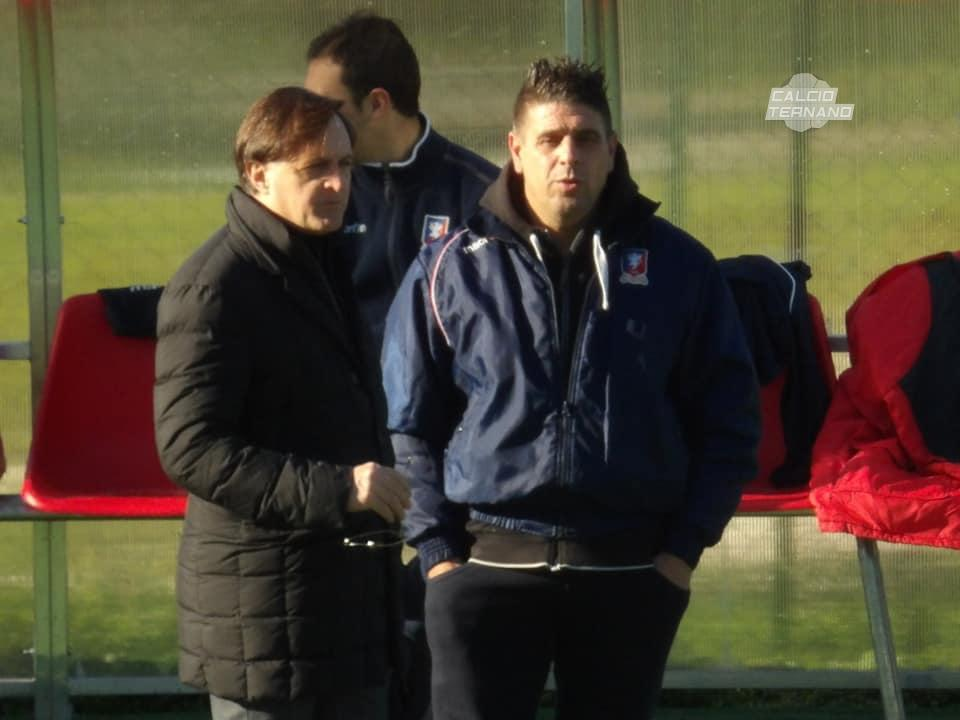 il direttore sportivo Gambini e mister Sabatini