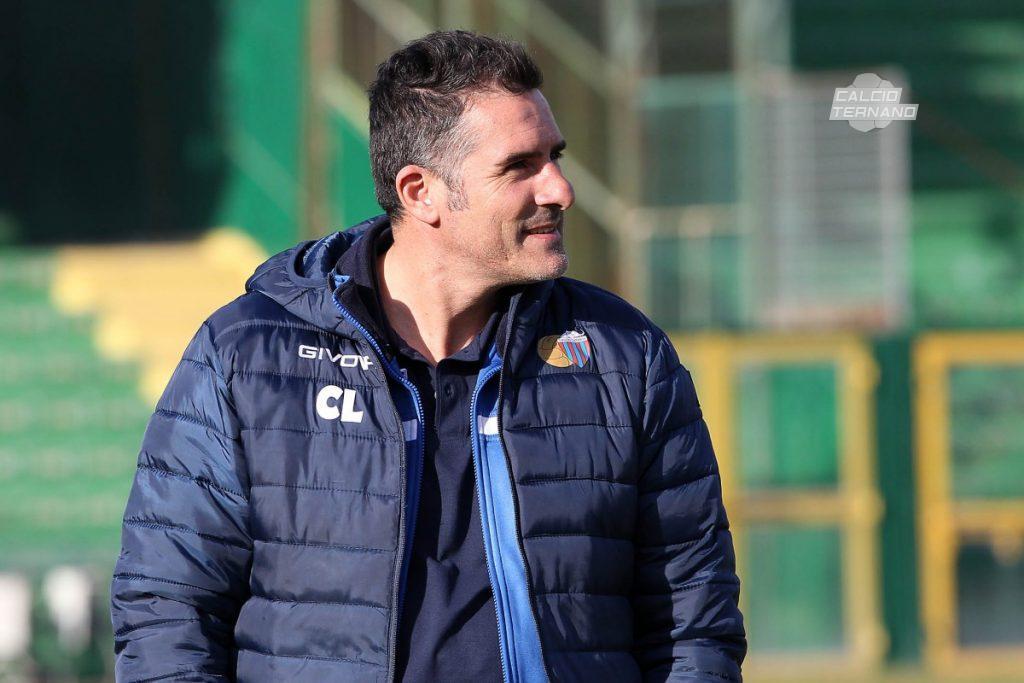 Il tecnico del Catania Cristiano Lucarelli