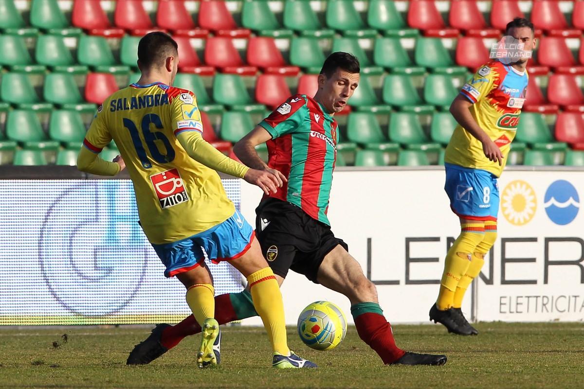 azione di Ternana-Catania