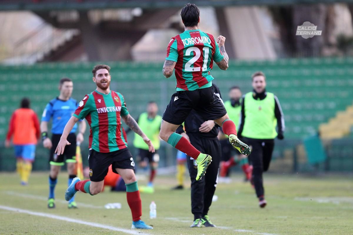 Torromino dopo il gol contro il Catania