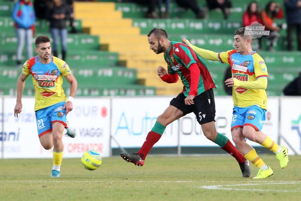 Emanuele Suagher durante Ternana-Catania