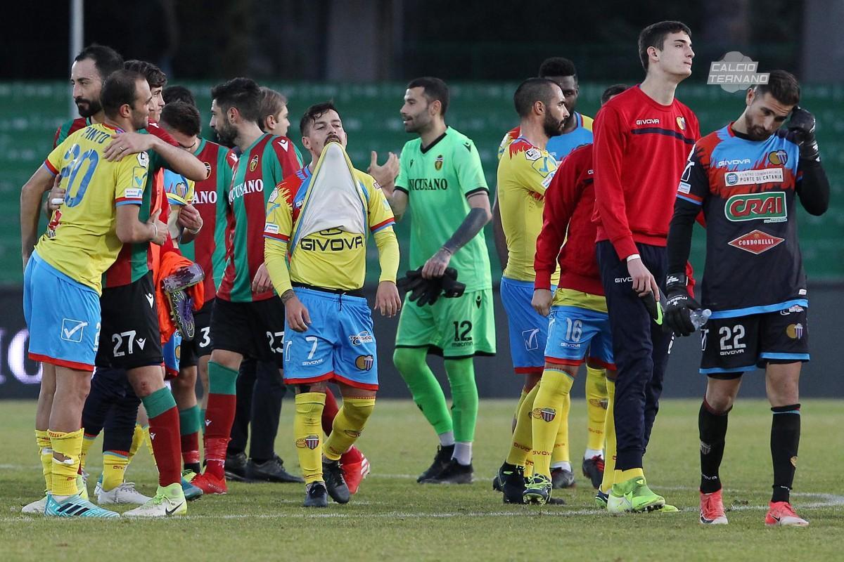 fine partita di Ternana-Catania
