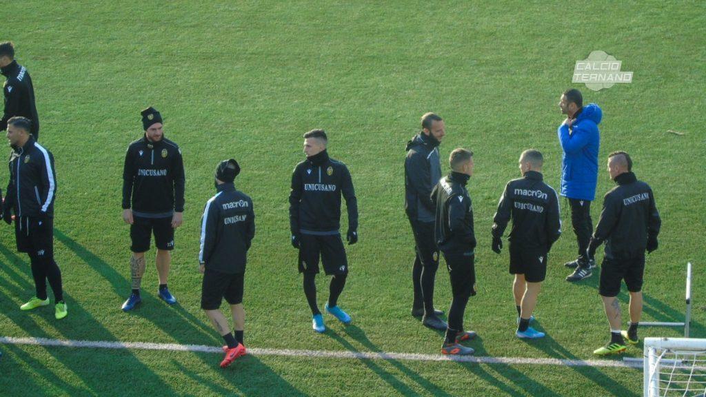 Ternana, applausi per staff e rossoverdi: torna Mattia Proietti