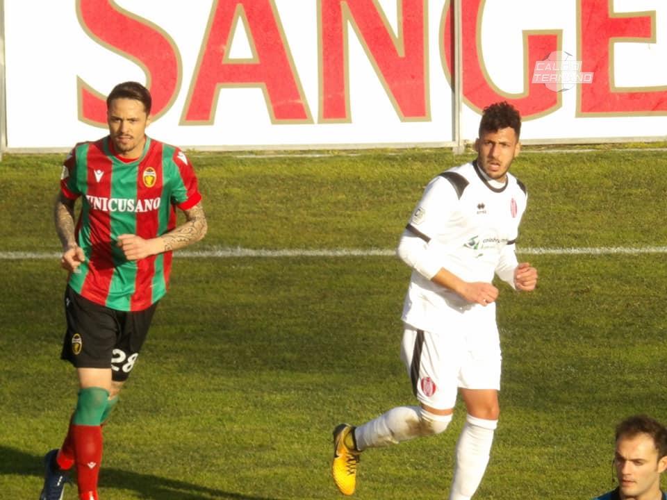 Aniello Salzano nel match contro il Rende