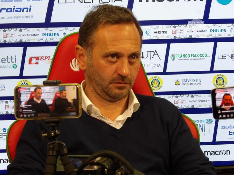 Il tecnico dei rossoverdi Fabio Gallo