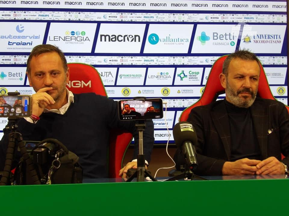 Fabio Gallo e Luca Leone in conferenza stampa