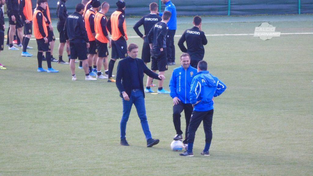 gli allenamenti della Ternana con Fabio Gallo