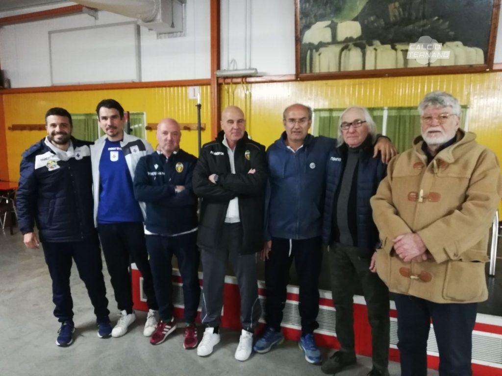 I dirigenti della Terni Est Soccer School con i responsabili della Ternana Academy