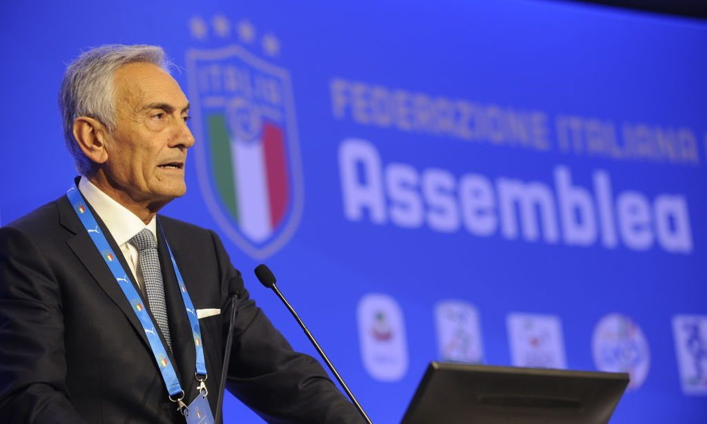Il Presidente FIGC Gabriele Gravina