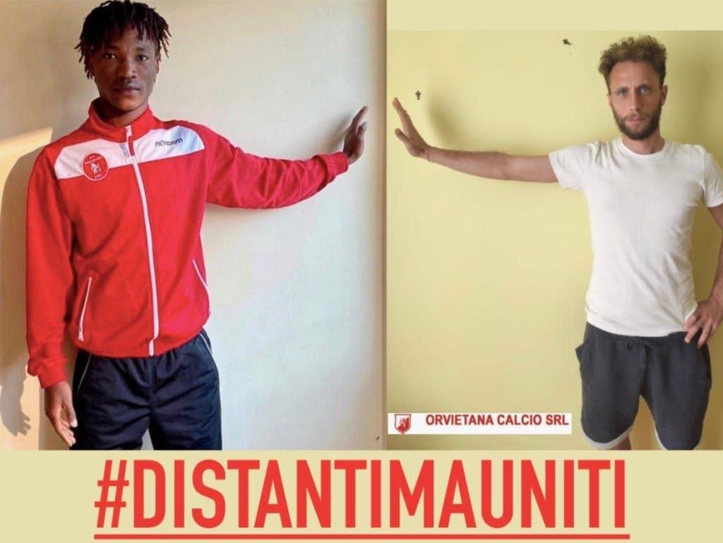 """Iniziativa """"distanti ma uniti"""" dell'orvietana calcio"""