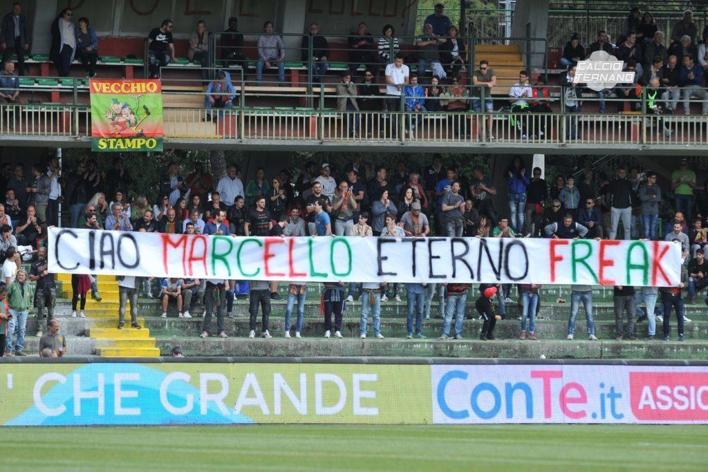 Ternana-Palermo striscione Marcello Pardi