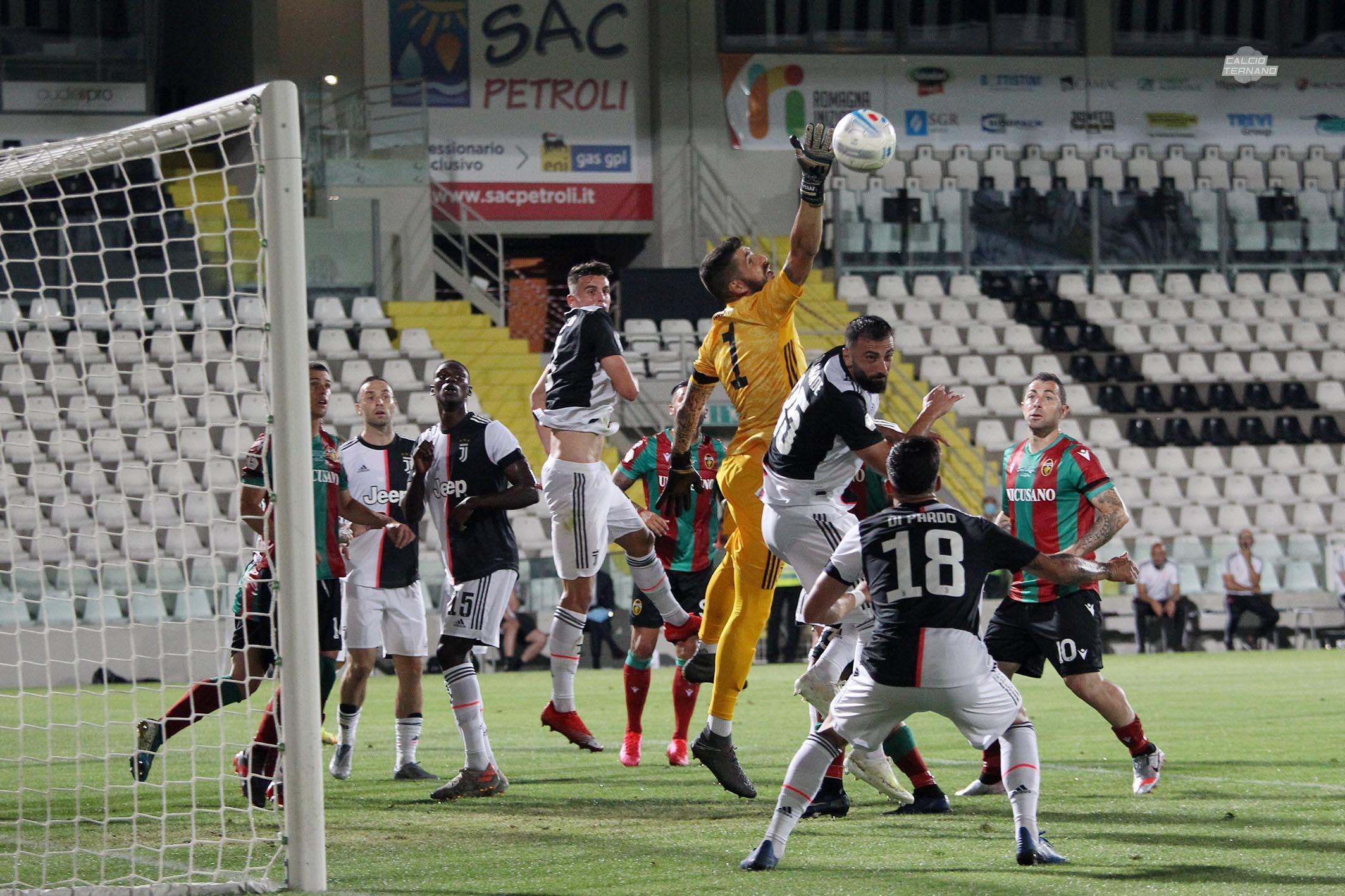 Ternana-Juventus Under 23 nella finale di Coppa Italia giocata a Cesena