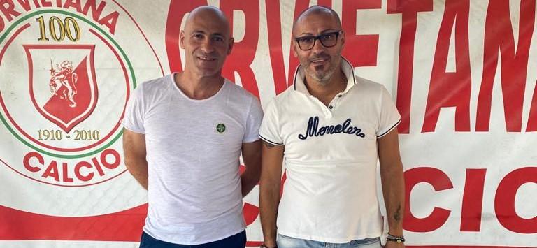 il direttore sportivo Cioci e l'allenatore Ciccone dell'Orvietana