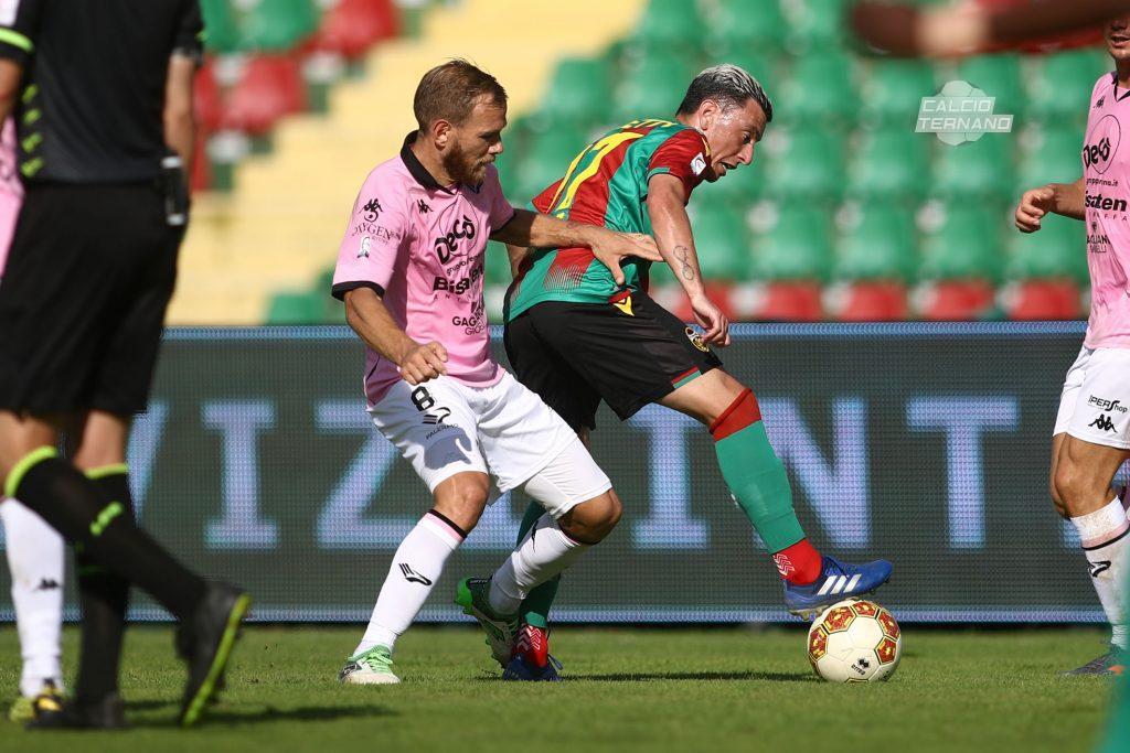 azione di Ternana-Palermo