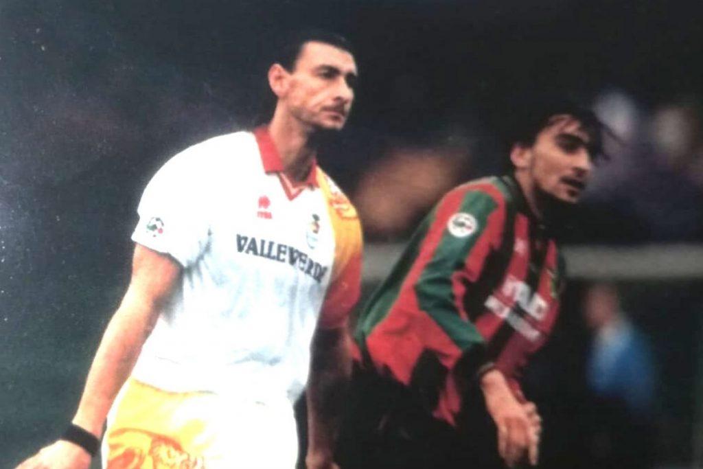 Andrea Silenzi e Mirko Monette in un Ternana-Ravenna 2-2 (stag.1998/99)