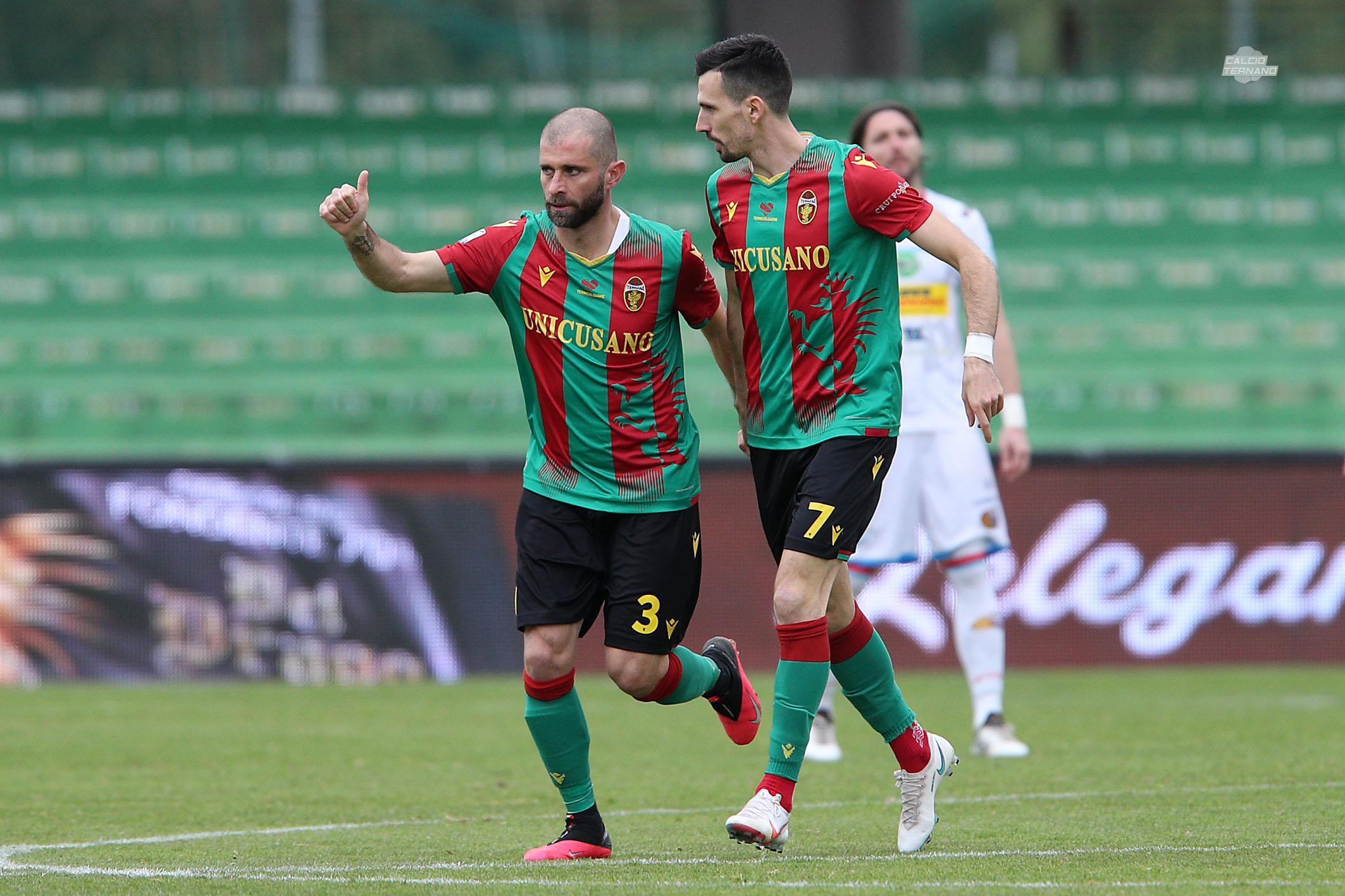 Ternana Catania Mammarella gol