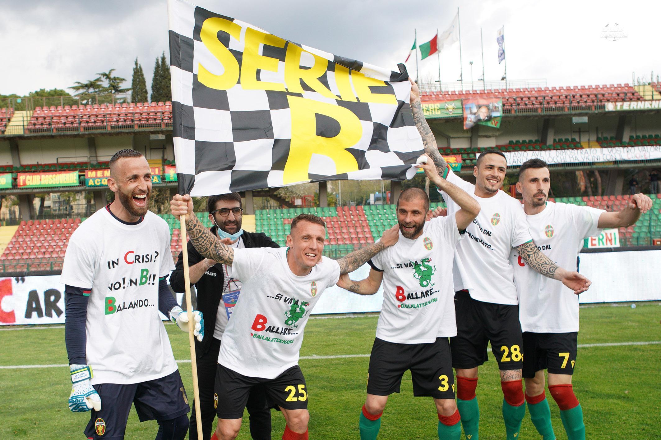 Ternana festeggiamenti Serie B